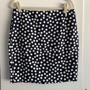 J Crew Polka Dot Pencil Skirt NWOT